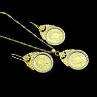 Naisten pukukorut Gold Plated Kaulakorut Korvakorut Käyttötarkoitus Häät Party Päivittäin Kausaliteetti Urheilu Häälahjaksi