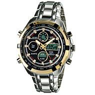 Hombre Reloj Deportivo Cuarzo LED / Calendario / Cronógrafo / Resistente al Agua / Dos Husos Horarios / alarma Aleación Banda Plata Marca-