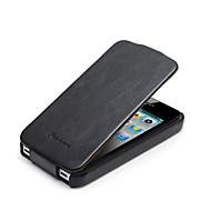 bascules étui en cuir véritable pour iPhone 5 / 5s (couleurs assorties)