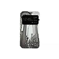 Skyscraper Pattern Voltage Window PU Leather Full Body Cases for Samsung Galaxy A3