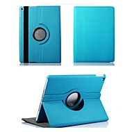 Appel iPad Air 2 - Effen Kleuren - 360⁰ Cases/Smart Covers/Origami Cases ( Textiel , Rood/Zwart/Blauw/Bruin/Paars/Oranje/Rose )