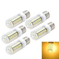 5pcs E27 10W 1000LM 6500K/3000K 56-5730 SMD Warm/Cool White Light LED Corn Bulb (AC 220~240V)