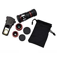 0.67X Wide+Macro and 180°Fish Eye Lens and 10X F1.1Mobile 16°Lens for iPhone and Other Mobile Phone(3Lens)