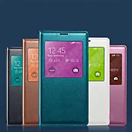 Mert Samsung Galaxy tok tokok Vízálló Betekintő ablakkal Teljes védelem Case Egyszínű Puha Műbőr mert Samsung S8 S8 Plus S7 edge S7 S5