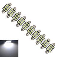 10 st Festoon 1.5 W 6 SMD 5050 100-150lm LM Kallvit Inredningsglödlampa DC 12 V