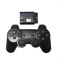 nuevo dispositivo de juego de choque inalámbrico para control inalámbrico ps2 / ps3 / pc (2.4ghz / negro)