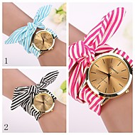 2015 newGeneva Fashion Watches Women Dress Watch Wristwatch Girl Bow Cloth Strap