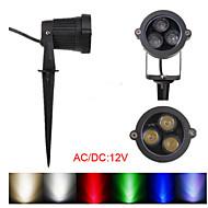 3W LED Flood Spot Light With Rod For Landscape Garden IP65 AC/DC 12-24V