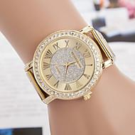 yoonheel 女性用 ファッションウォッチ カジュアルウォッチ ダミー ダイアモンド 腕時計 模造ダイヤモンド クォーツ 金属 バンド ゴールド