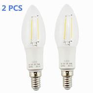 E14 2 W 2 COB 160 LM Varm hvid LED-glødelampe AC 85-265 V