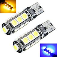 Lampe de Décoration Décorative Blanc Froid / Rouge / Bleu / Jaune / Vert ding yao 2 pièces T10 5W 13 SMD 5050 200 LM DC 12 V