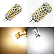 1 pcs G4 9W 102X SMD 3528 1200LM 2800-3500/6000-6500K Warm White/Cool White Corn Bulbs DC 12V