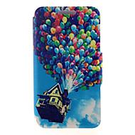 Na Samsung Galaxy Etui Etui na karty / Z podpórką / Flip / Magnetyczne / Wzór Kılıf Futerał Kılıf Balon Skóra PU Samsung A8 / A7 / A5 / A3