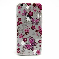 Red Flowers And Butterflies Pattern 0.2 Slim TPU Protective Shell for IPhone 6