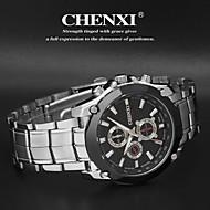 CHENXI® 男性 リストウォッチ カジュアルウォッチ クォーツ 日本産クォーツ ステンレス バンド シルバー