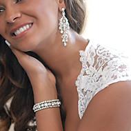 Σκουλαρίκι Κρεμαστά Σκουλαρίκια Κοσμήματα 1pc Γάμου / Πάρτι Κρύσταλλο / Κράμα Γυναικεία Ασημί