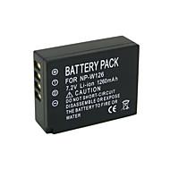 NP-W126 - Li-ion - Batteri - tillfor FUJIFLIM FinePix HS30 FinePix HS30EXR FinePix HS33EXR FinePix HS35EXR FinePix HS50EXR X-A1 X-E1 X-E2