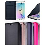 de couro original do sono auto inteligente com caso slot para cartão de corpo inteiro para Samsung Galaxy S6 bordo (cores sortidas)