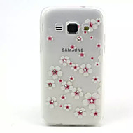 The Plum Blossom Relief Painting Pattern 0.2 Slim TPU Protective Shell for Samsung Galaxy A3