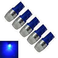 1.5W T10 Dekorationslampe 1 Højeffekts-LED 90lm lm Blå DC 12 V 5 stk.