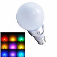 1 pcs ding yao B22 5W 1X SMD 5730 100-400LM RGB Remote-Controlled Globe Bulbs AC 85-265V