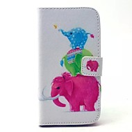 Color The Elephant Patterns Leather Full Body Case for Samsung Galaxy S3 I9300