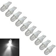 Jiawen® 10pcs t10 0.5w 30-50lm 6000-6500k lâmpadas de sinal de carro brancas frescas led luz do carro (dc 12v)