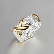 バンドリング クリスタル 純銀製 ゴールドメッキ タッセル ファッション ゴールド/シルバー ジュエリー 結婚式 パーティー 日常 カジュアル 1個