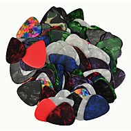 tung 0.96mm guitar picks plektre celluloid assorterede farver 100pcs-pack