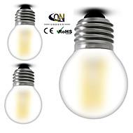 3PCS ONDENN E26/E27 4 W 4 COB 400 LM 2800-3200K K Warm White A Dimmable Globe Bulbs AC 100-240 V