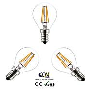 3 db. ONDENN E14 4 COB 400 LM Meleg fehér G45 edison Régies (Vintage) Izzószálas LED lámpák AC 220-240 V