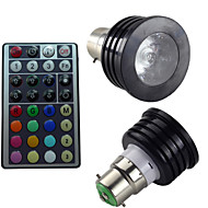 1pcs SchöneColors B22 2 Million Colors Dimmable/32Keys Remote-Controlled/Decorative RGB LED SpotLights AC 85-265 V