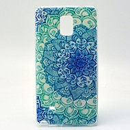For Samsung Galaxy Note Mønster Etui Bagcover Etui Mandala-mønster TPU Samsung Note 4