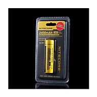 18650 3400mAh Li-ion rechargeable batteries de Nitecore