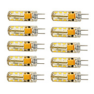 10pcs G4 1.5W 24x3014SMD 120LM 3000K/6000K WarmWhite/Cool White Light LED Corn Bulb(AC/DC10-20V)