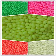 1000pcs / 4 * perlas ovaladas perlas de plástico duro 6fishing luminosos que pescan aparejo terminal señuelos
