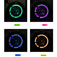 Bike Lights / Wheel Lights / Valve Cap Flashing Lights / Rear Bike Light / Front Bike Light LED / - / Fluorescent - CyclingAlarm /