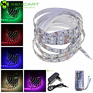 5M 300x5050 SMD RGB 72W Light LED Strip Lamp + 44-Key Controller + EU Plug Power Supply Adapter AC100-240V
