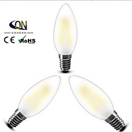3PCS ONDENN E14 4 W 4 X COB 400 LM 2800-3200K K Warm White A Dimmable Candle Bulbs AC 220-240 V