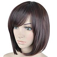 mode-bruine kleur kort steil haar pruik kant bang synthetische pruiken nieuwe aankomst
