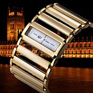 Luxus Rom Quadrat Zifferblatt Metall-Kette Band Dame-Handgelenk-Quarz-Armband-Armband-Uhr