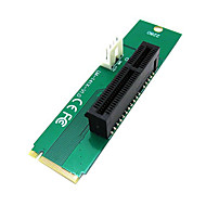 PCI Express PCI-E 4X Female to NGFF M.2 M Key Male Adapter Converter Card with Power Cable