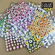 Hot Sale!!50 Mixs Floral Design 3D Nail Art Stickers