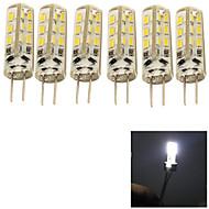 6PCS YouOKLight®  G4 2W 24*SMD3014  150LM  Cool White LED Corn Bulbs(220V-240)