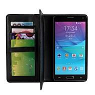 Pour Samsung Galaxy Note Portefeuille / Porte Carte / Avec Support / Clapet Coque Coque Intégrale Coque Couleur Pleine Cuir PU Samsung