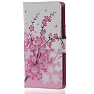For LG etui Kortholder Pung Med stativ Flip Etui Heldækkende Etui Træ Hårdt Kunstlæder for LG LG Leon / LG C40 H340N