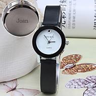 Gepersonaliseerde Gift - voor Dames Horloge - met Leer - Band