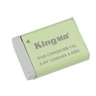 Kingma nb-13L erstatning 3.6v 1250mah li-ion batteri for Canon Powershot G7 x - grå + grønn