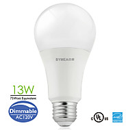 Bymea E26 13W 18*3030SMD 1100lumen 75W Equivalent Warm White, Daylight LED A21 Bulb Light Dimmable (120V)