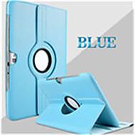 Pour Samsung Galaxy Coque Avec Support Clapet Rotation 360° Coque Coque Intégrale Coque Couleur Pleine Cuir PU pour Samsung Tab 2 10.1